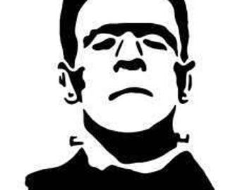 Frankenstein Face Horror Vinyl Car Decal Bumper Window Sticker Any Color Multiple Sizes