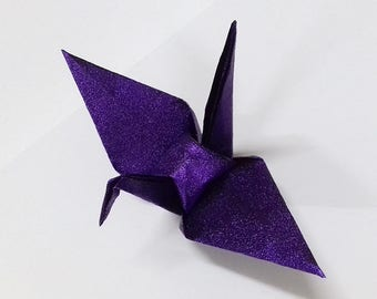 Large Purple Origami Cranes ** 100 pcs