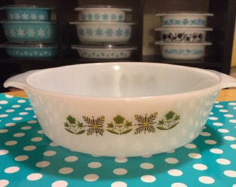 Anchor Hocking Meadow Green Casserole Baking Dish