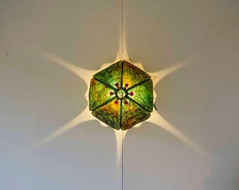 paper 'bubble' wall sconce