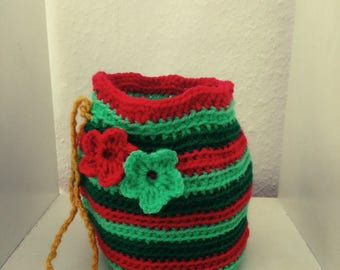 Bags, crocheted with cord