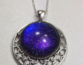 Glitter Galaxy Necklace (Multichrome)