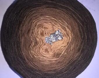 Color gradient yarn Beebles stoked yarn Smobbel Schokotraum (base price: 3Fäden / 1000 m = EUR 12.50; 4Fäden / 1000 m = 15,50 EUR)