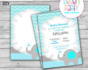 Invitation to party maternity / printable digital DIY / immediate download
