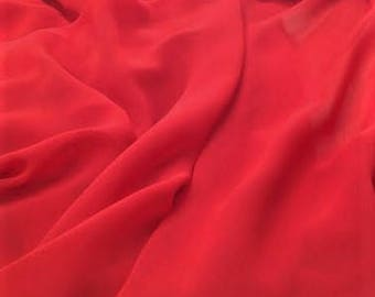 Chiffon Red Fabric, Red Chiffon Material Sold By the Yard