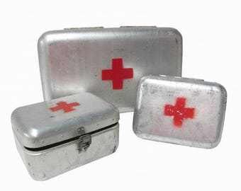 Vintage European First Aid Box - Swiss Red Cross - SMALL