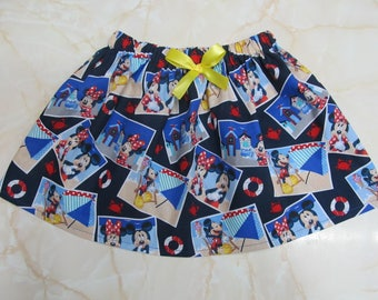 Mickey and Minnie Mouse Children's Vacation Skirt