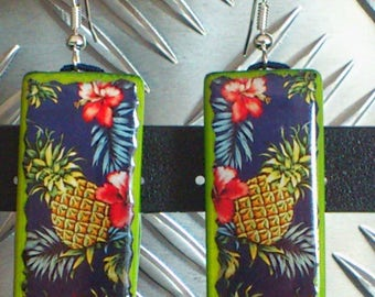 Bamboo pineapple earrings
