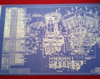 Harley Davidson Flathead Blueprint Art Fathers Day gift KeyWords: Poster, Photo, Print, Sign, Vintage Motorcycle Motor,