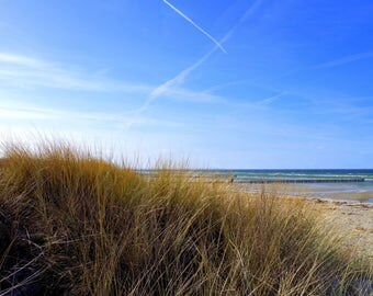 Canvas 30 x 20 sea - dunes - Beach - blue - sky