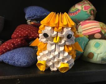 3D Origami Mini Penguin - Gold/White - READY TO SHIP