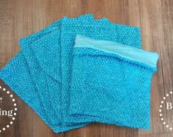 Turquoise Lined Crocheted Tutu Top Large - 5 pack