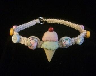 Ice Cream Hemp Bracelet