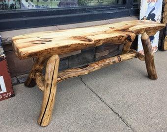 Aspen Log Bench or Chair