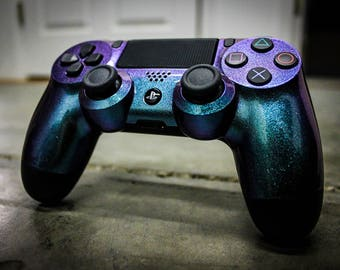Sony PS4 Game Controller-Super Shift-Galaxy Green to Purple