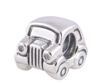Antique Vintage CAR Charm, 925 Sterling Silver Pandora Charm Fits to all Bracelets