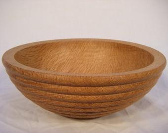 Beaded Oak Bowl