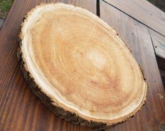 Wooden Slice Centerpiece