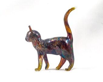 Rainbow Cat - Glass Sculpture