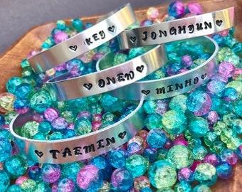 SHINee Name Bracelets