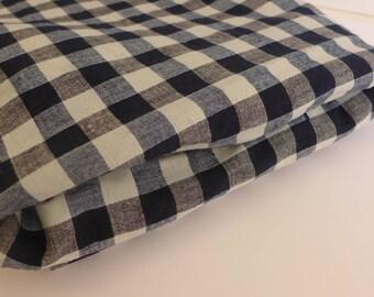 """Antique 19th Century Handloomed Homespun Kelsch Cloth Duvet 60"""" x 76"""""""