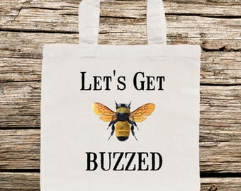Bee Tote Bag, Bumble Bee Tote Bag, Tote Bag with Bumble Bee, Funny Bee Tote Bag, Personalized Tote Bag, Tote Bag, Whimsical Tote Bag