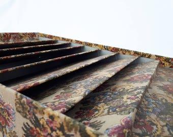 Door document 60s sorter custom industrial metal flower wallpaper