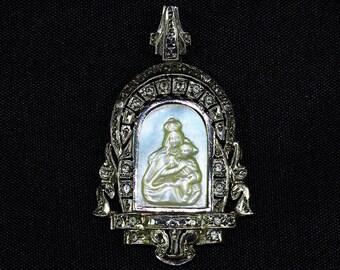 Antique Silver & MOP Pendant