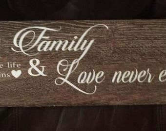 Family, love, tile, decal