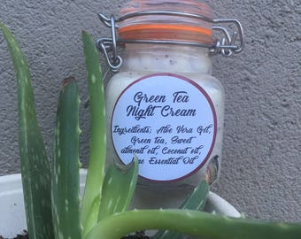 Green tea aloe vera night cream