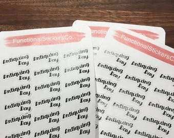 Antiquing Day Functional Stickers / ECLP / Happy Planner / Antiques