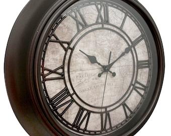 14 inch World Map Wall Clock