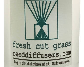 8 oz Fresh Cut Grass Fragrance Reed Diffuser Oil Refill with reeds- Made in the USA