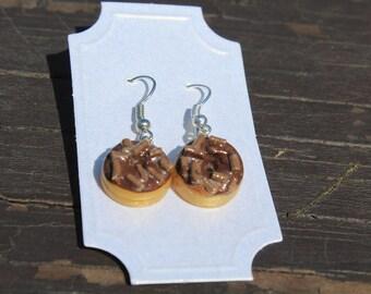 Donut Earrings - Chocolate