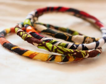 ZIGA  - Bangles out of African Print fabrics