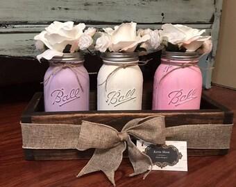 Mason Jar Boxes with (pint) jars