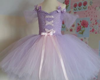 Disney's Tangled inspired Lilac and pink Rapunzel tutu dress.