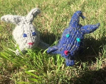 CUSTOM Little Knitted Bunny Toy