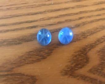24pcs10x12 oval Blue Star Sapphire glass stones