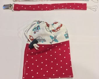 Pacifier clips (set of 2) with bag.