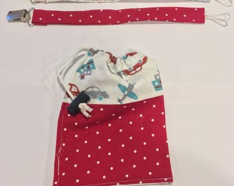 Pacifier clips (set of 2) with bag. Free shipping!, binky clip, soother clip