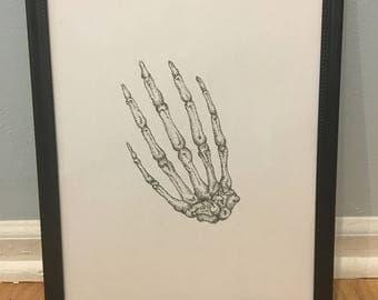Bones Collection (Hands) Print