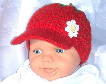 Strawberry Hat Cappi for spring and summer