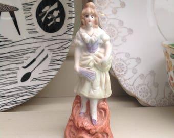 Vintage bisque Parisian style lady figurine 1950s