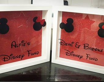 Personalised Disney fund money box frame