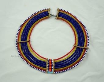 Vintage Maasai wedding necklace | handmade | beaded African necklace |African necklace | African Jewelry