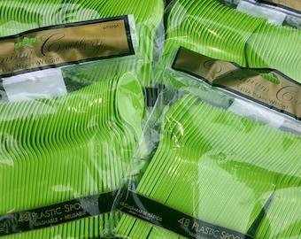 Destash 48ct heavy duty spoons wasabi