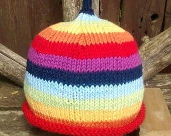 Toddler rainbow beanie hat