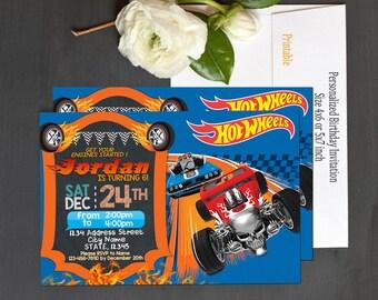 Hot Wheels Invitation / Hot Wheels Birthday / Hot Wheels Party / Hot Wheels Card / Hot Wheels Printable / Hot Wheels_BS061
