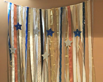 Ribbon & Streamer Photo Booth Backdrop  (Various Colour Options)